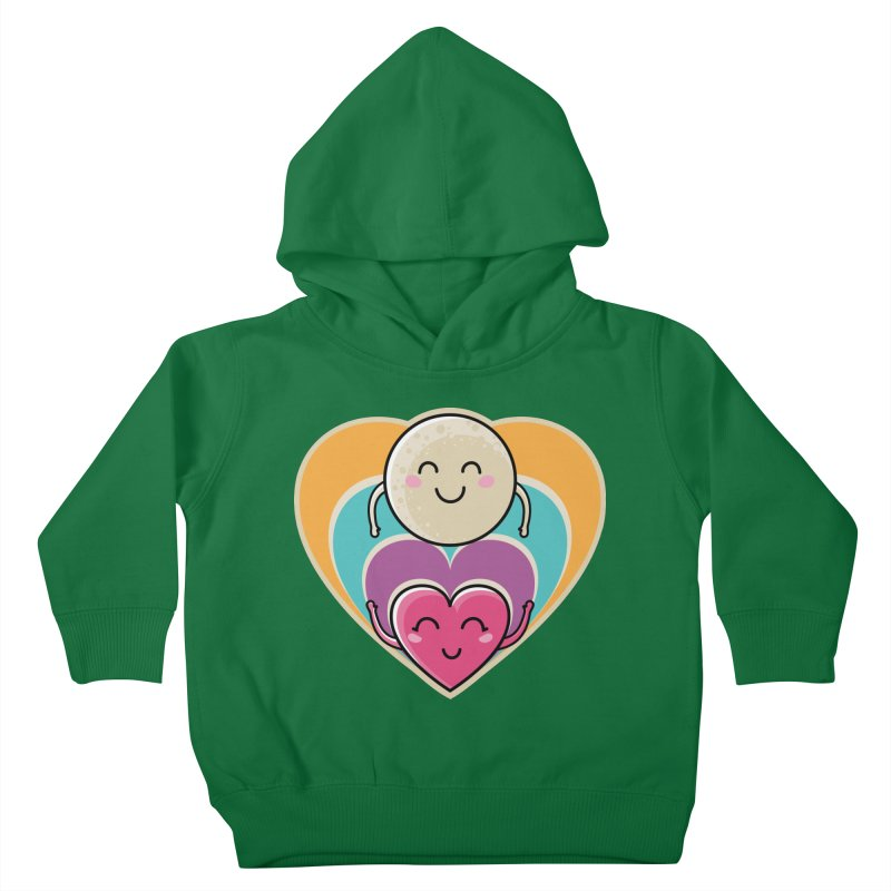 Love to the moon and back Kids Toddler Pullover Hoody by Flaming Imp's Artist Shop