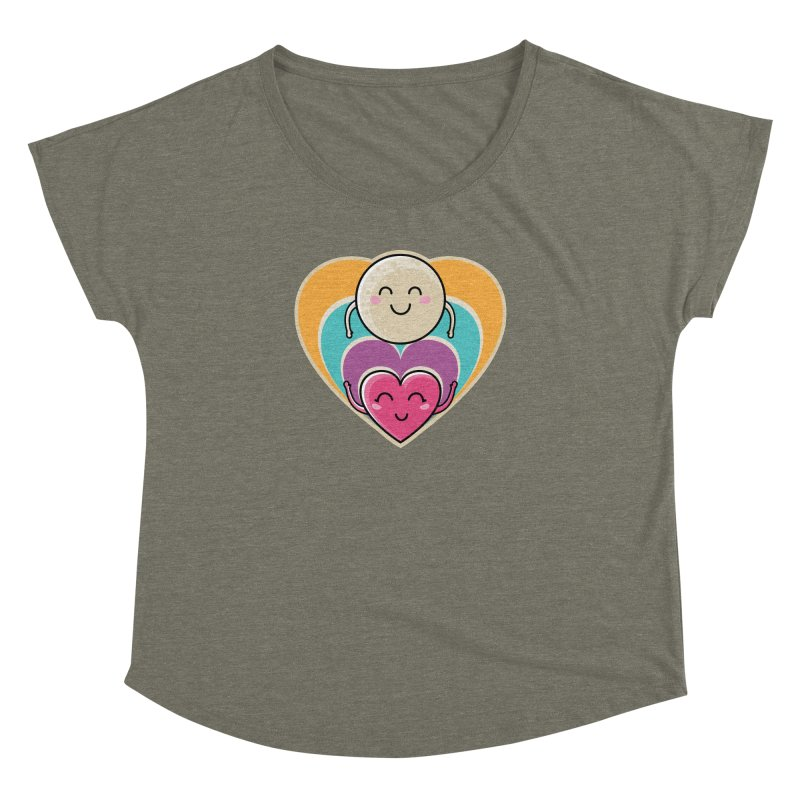 Love to the moon and back Women's Dolman Scoop Neck by Flaming Imp's Artist Shop