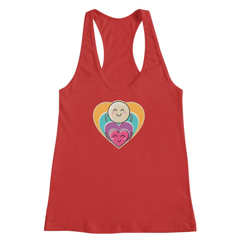 Love to the moon and back Women's Racerback Tank by Flaming Imp's Artist Shop