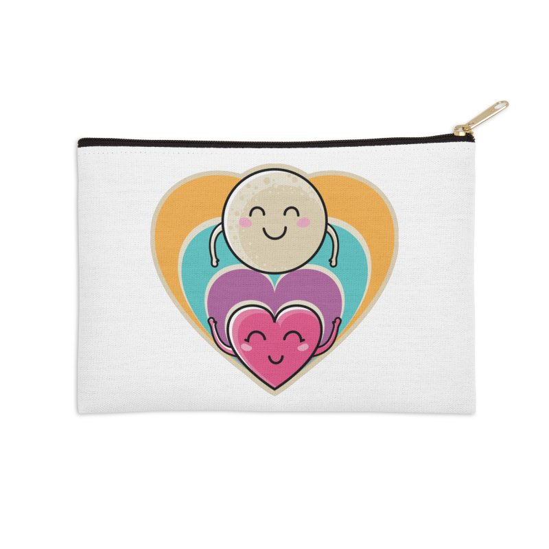 Love to the moon and back Accessories Zip Pouch by Flaming Imp's Artist Shop