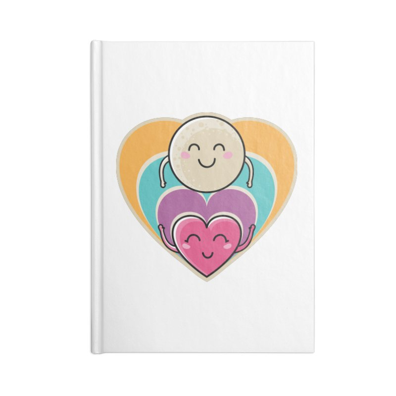 Love to the moon and back Accessories Notebook by Flaming Imp's Artist Shop
