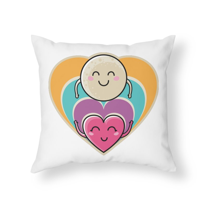 Love to the moon and back Home Throw Pillow by Flaming Imp's Artist Shop