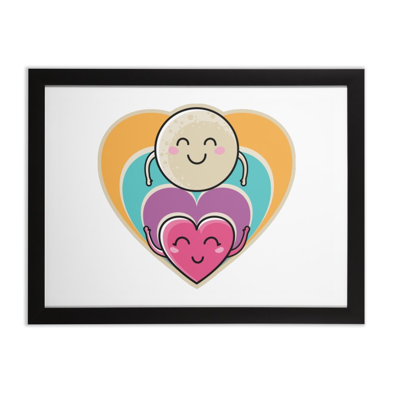 Love to the moon and back Home Framed Fine Art Print by Flaming Imp's Artist Shop