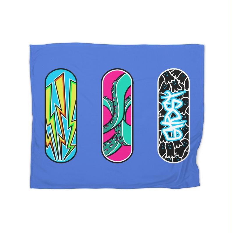 The art of skateboarding Home Blanket by Flaming Imp's Artist Shop