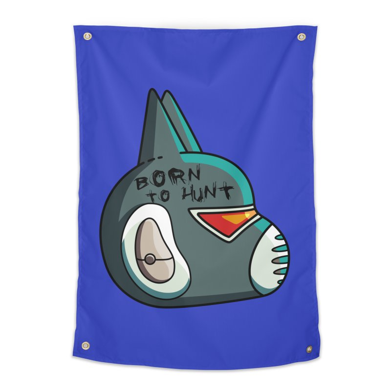Avocato Born To Hunt Home Tapestry by Flaming Imp's Artist Shop