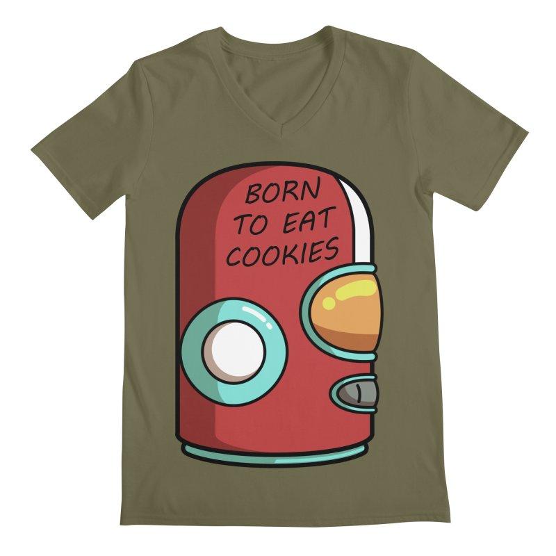 Gary Born To Eat Cookies Men's Regular V-Neck by Flaming Imp's Artist Shop