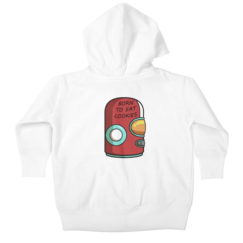 Gary Born To Eat Cookies Kids Baby Zip-Up Hoody by Flaming Imp's Artist Shop