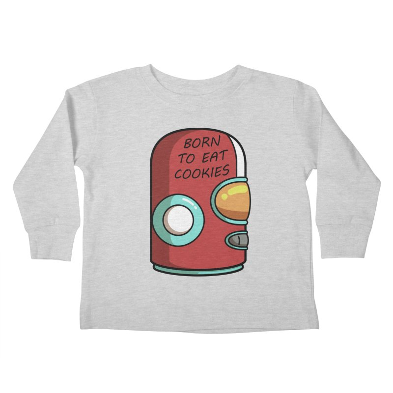 Gary Born To Eat Cookies Kids Toddler Longsleeve T-Shirt by Flaming Imp's Artist Shop