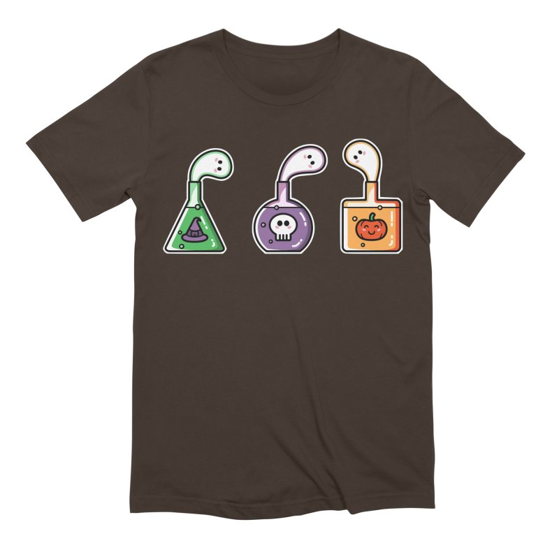Cute Halloween Ghost Potions Men's Extra Soft T-Shirt by Flaming Imp's Artist Shop