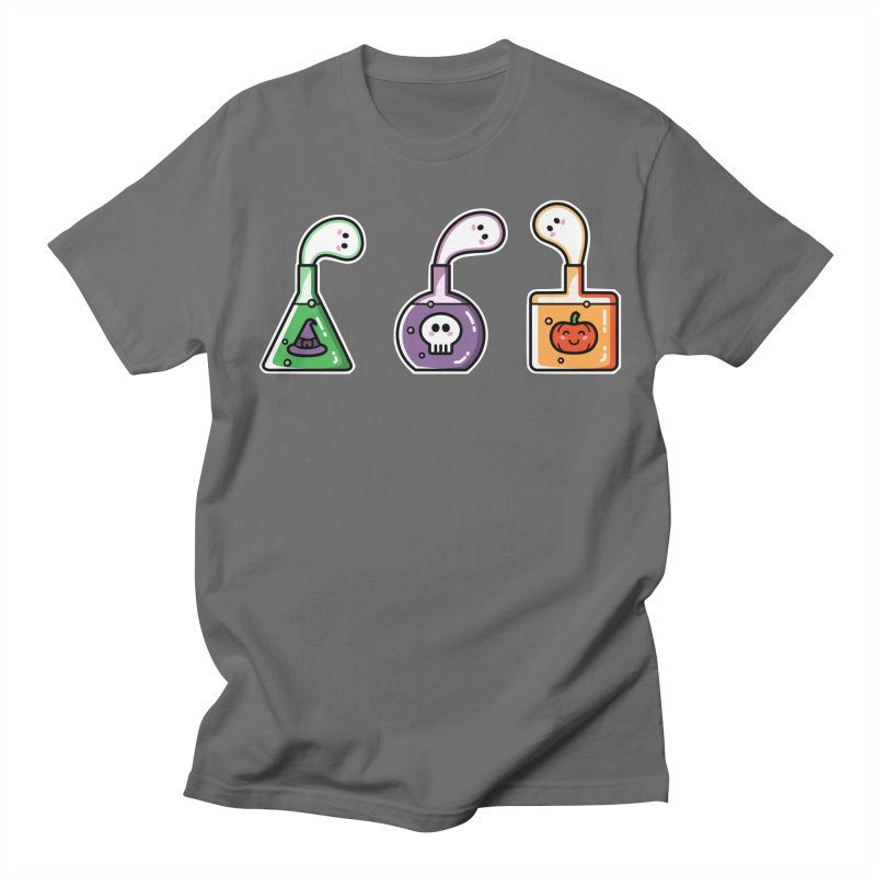 Cute Halloween Ghost Potions Men's T-Shirt by Flaming Imp's Artist Shop