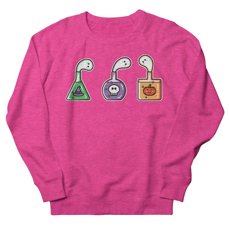 Cute Halloween Ghost Potions Men's French Terry Sweatshirt by Flaming Imp's Artist Shop