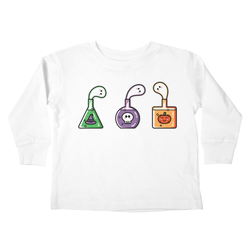Cute Halloween Ghost Potions Kids Toddler Longsleeve T-Shirt by Flaming Imp's Artist Shop