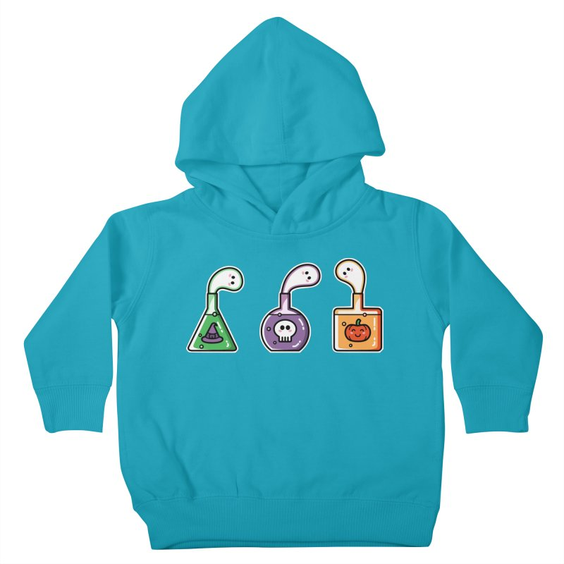 Cute Halloween Ghost Potions Kids Toddler Pullover Hoody by Flaming Imp's Artist Shop