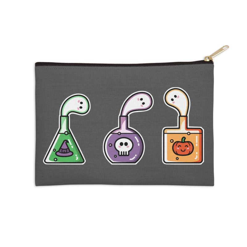 Cute Halloween Ghost Potions Accessories Zip Pouch by Flaming Imp's Artist Shop