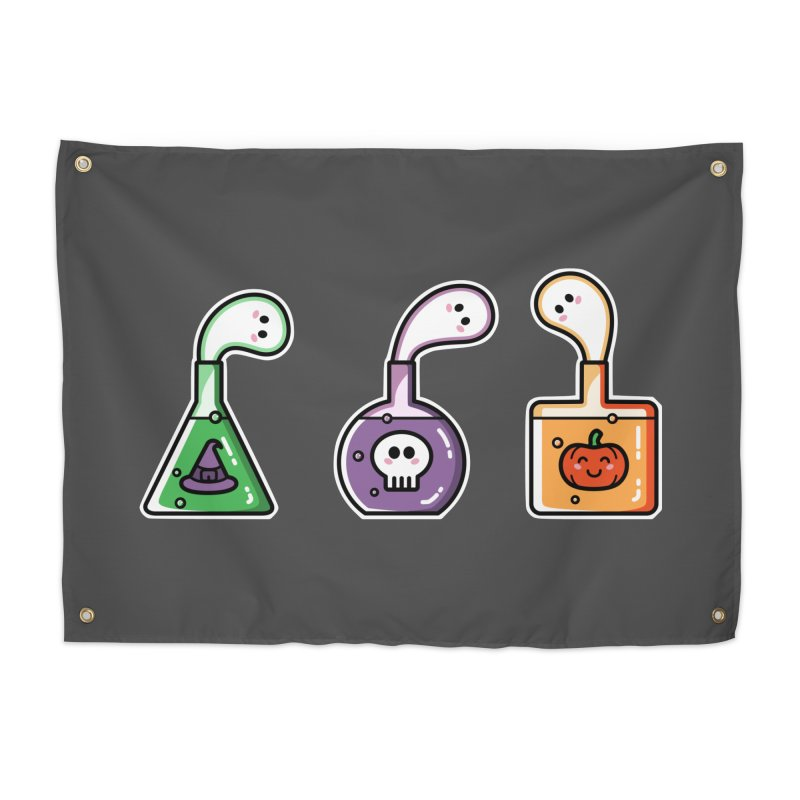 Cute Halloween Ghost Potions Home Tapestry by Flaming Imp's Artist Shop