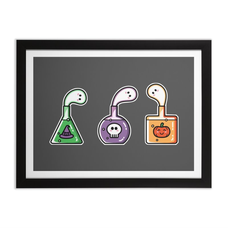 Cute Halloween Ghost Potions Home Framed Fine Art Print by Flaming Imp's Artist Shop