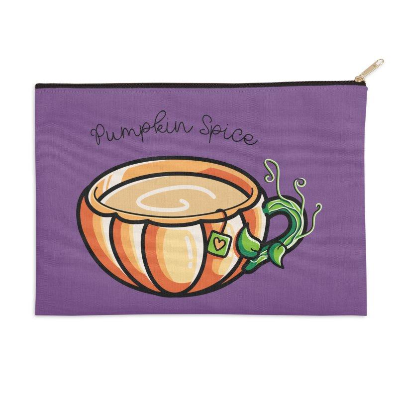 Pumpkin Spice Chai Tea Accessories Zip Pouch by Flaming Imp's Artist Shop