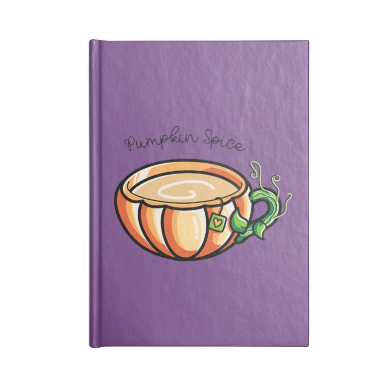 Pumpkin Spice Chai Tea Accessories Notebook by Flaming Imp's Artist Shop