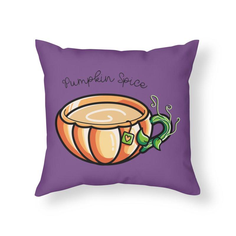 Pumpkin Spice Chai Tea Home Throw Pillow by Flaming Imp's Artist Shop
