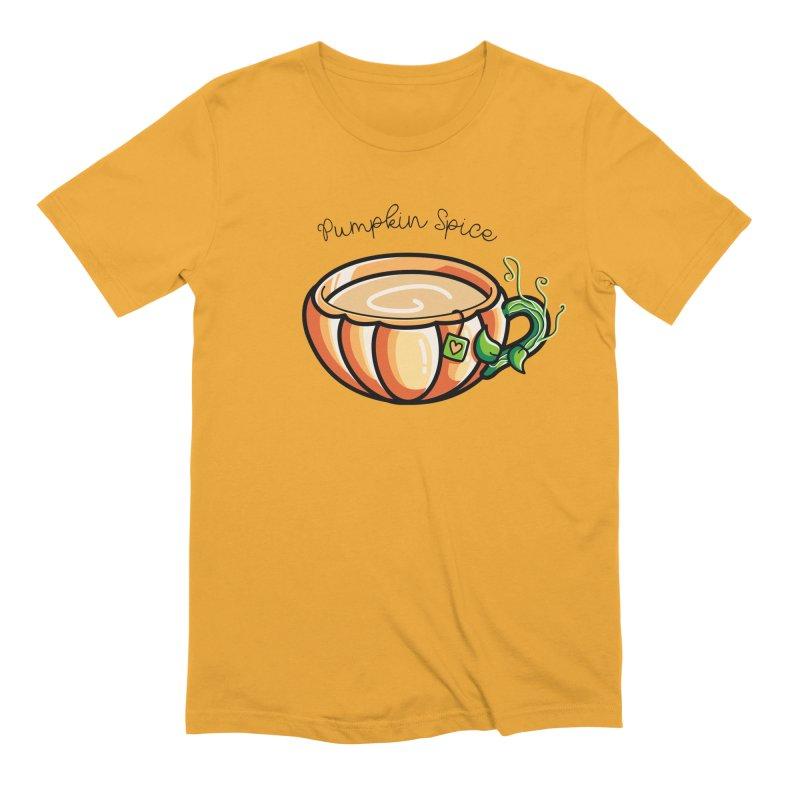 Pumpkin Spice Chai Tea Men's Extra Soft T-Shirt by Flaming Imp's Artist Shop