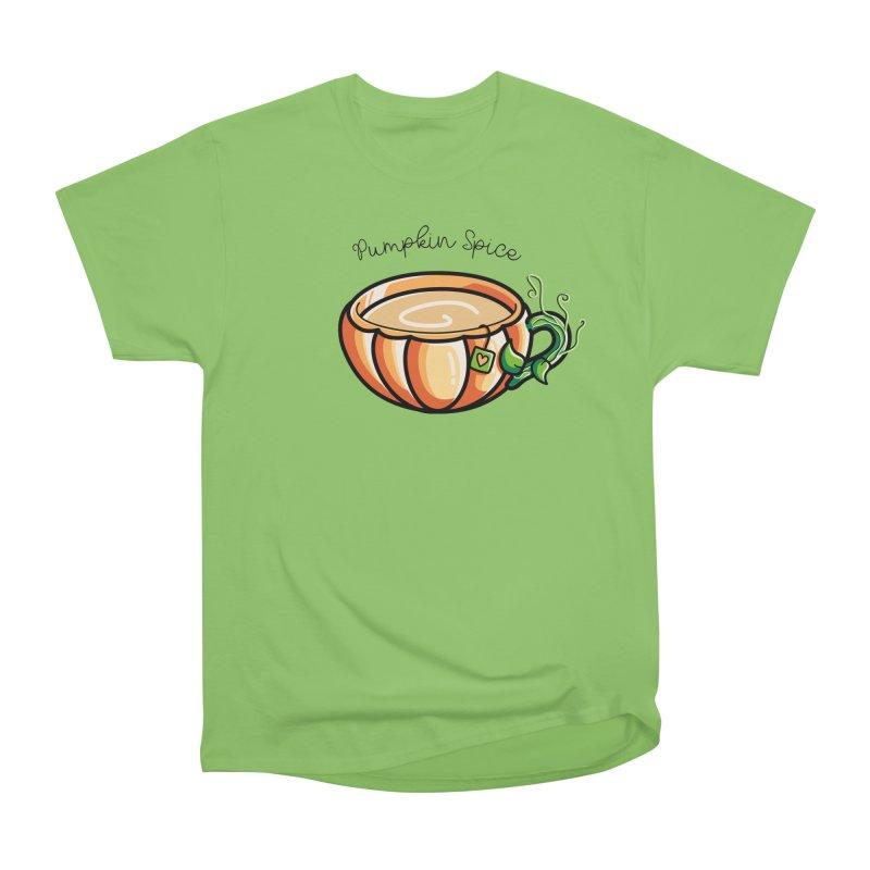 Pumpkin Spice Chai Tea Women's Heavyweight Unisex T-Shirt by Flaming Imp's Artist Shop