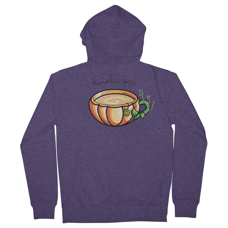 Pumpkin Spice Chai Tea Men's French Terry Zip-Up Hoody by Flaming Imp's Artist Shop