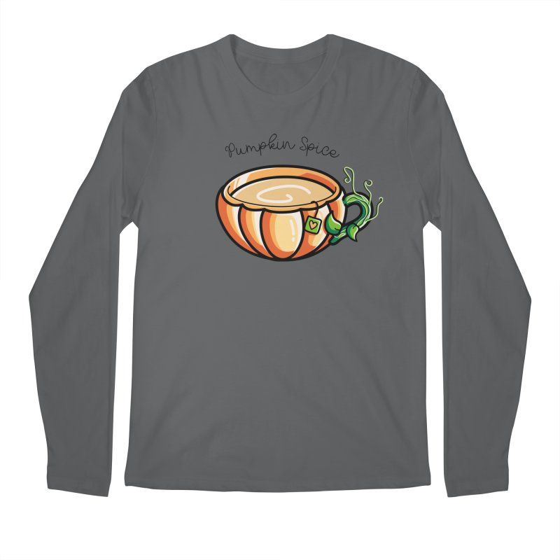 Pumpkin Spice Chai Tea Men's Regular Longsleeve T-Shirt by Flaming Imp's Artist Shop