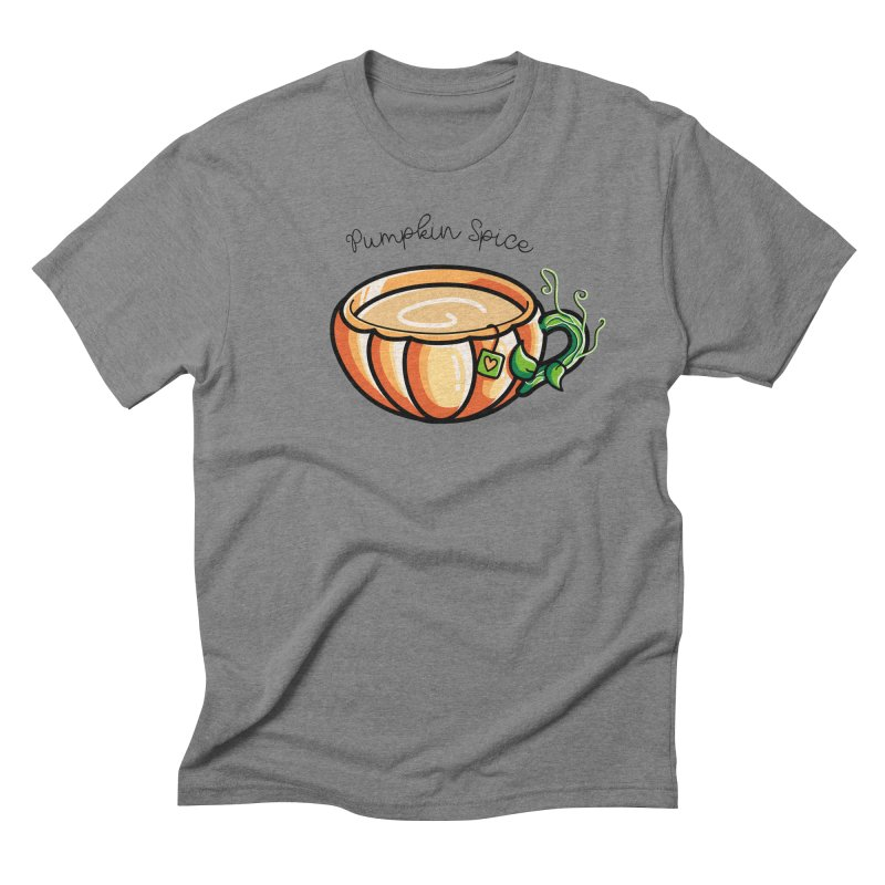 Pumpkin Spice Chai Tea Men's Triblend T-Shirt by Flaming Imp's Artist Shop