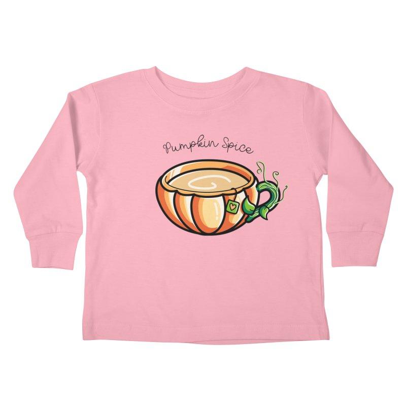 Pumpkin Spice Chai Tea Kids Toddler Longsleeve T-Shirt by Flaming Imp's Artist Shop