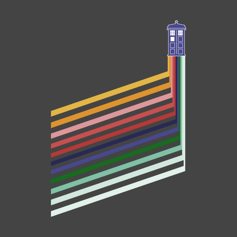 13th Doctor Retro Diagonal Stripes by Flaming Imp's Artist Shop