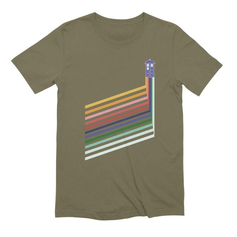 13th Doctor Retro Diagonal Stripes Men's Extra Soft T-Shirt by Flaming Imp's Artist Shop