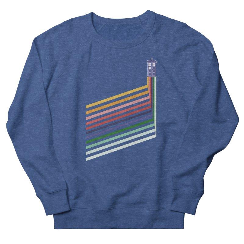 13th Doctor Retro Diagonal Stripes Women's French Terry Sweatshirt by Flaming Imp's Artist Shop