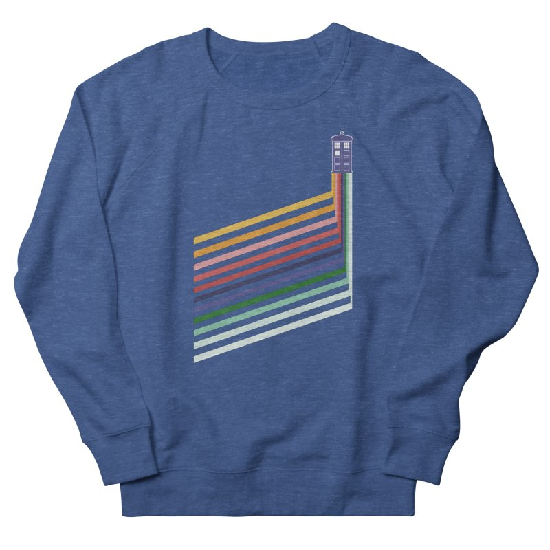 13th Doctor Retro Diagonal Stripes Men's French Terry Sweatshirt by Flaming Imp's Artist Shop