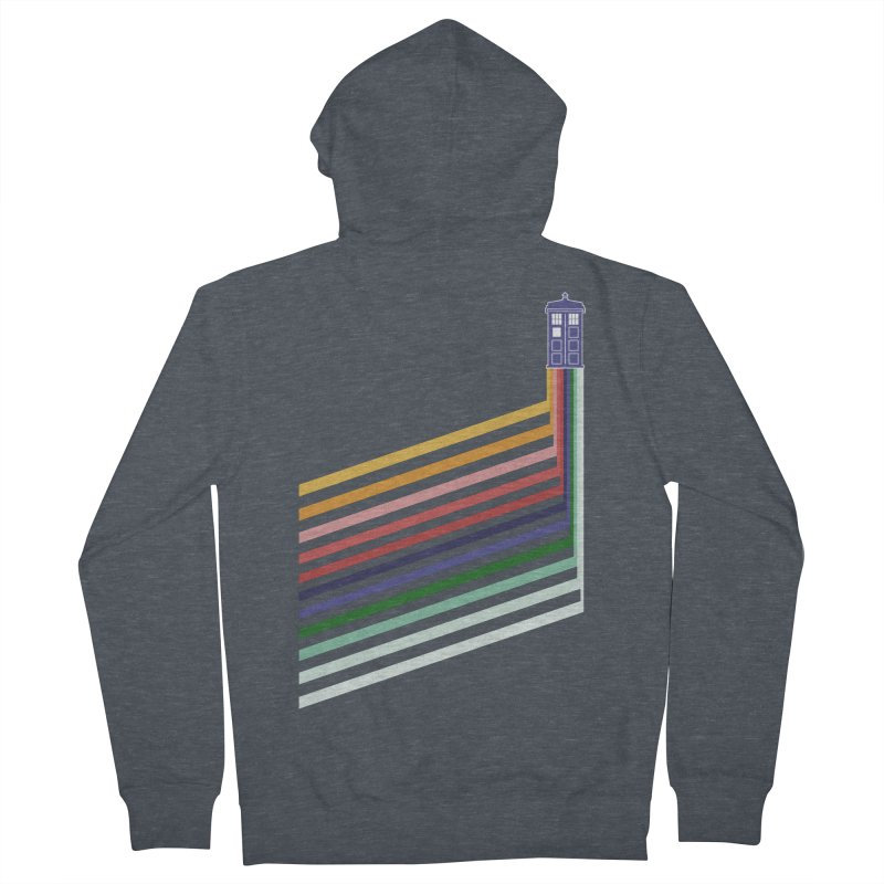 13th Doctor Retro Diagonal Stripes Men's French Terry Zip-Up Hoody by Flaming Imp's Artist Shop