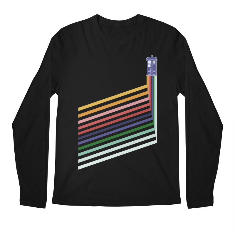 13th Doctor Retro Diagonal Stripes Men's Regular Longsleeve T-Shirt by Flaming Imp's Artist Shop