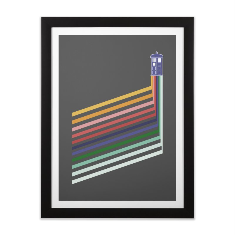 13th Doctor Retro Diagonal Stripes Home Framed Fine Art Print by Flaming Imp's Artist Shop