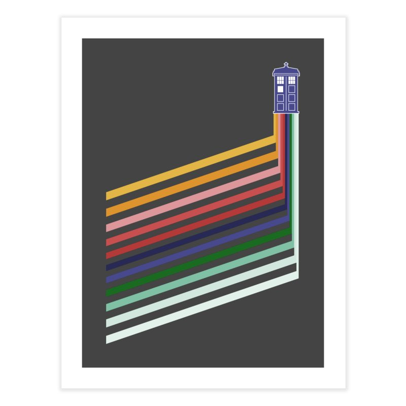 13th Doctor Retro Diagonal Stripes Home Fine Art Print by Flaming Imp's Artist Shop
