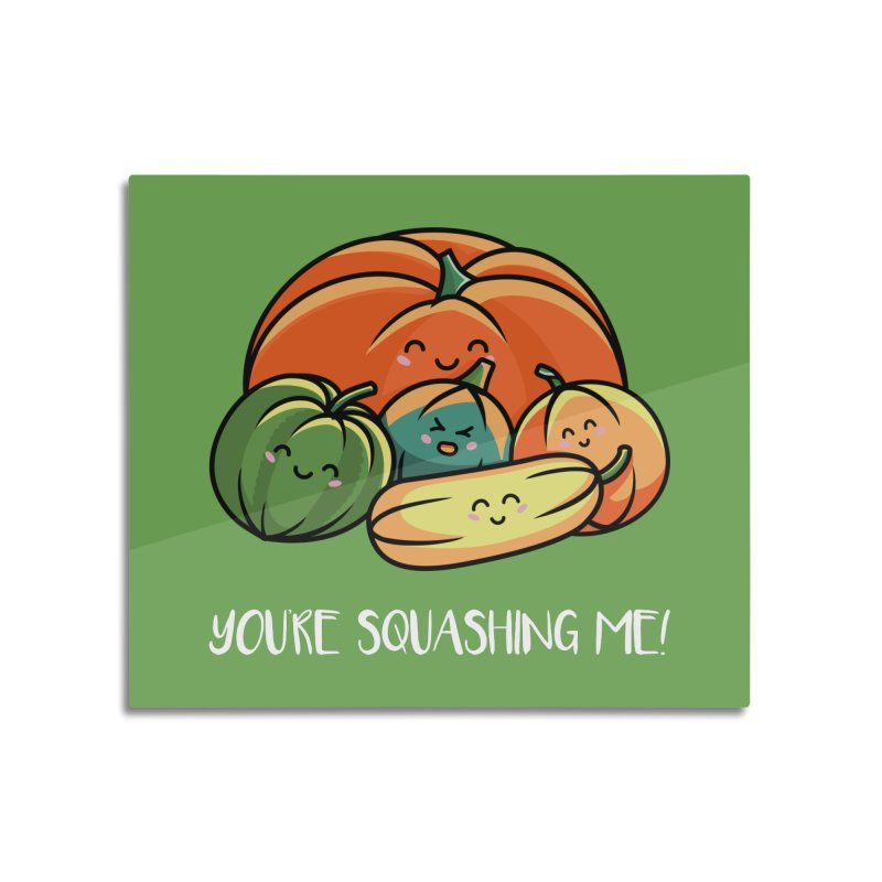 Autumn Squash Home Mounted Aluminum Print by Flaming Imp's Artist Shop