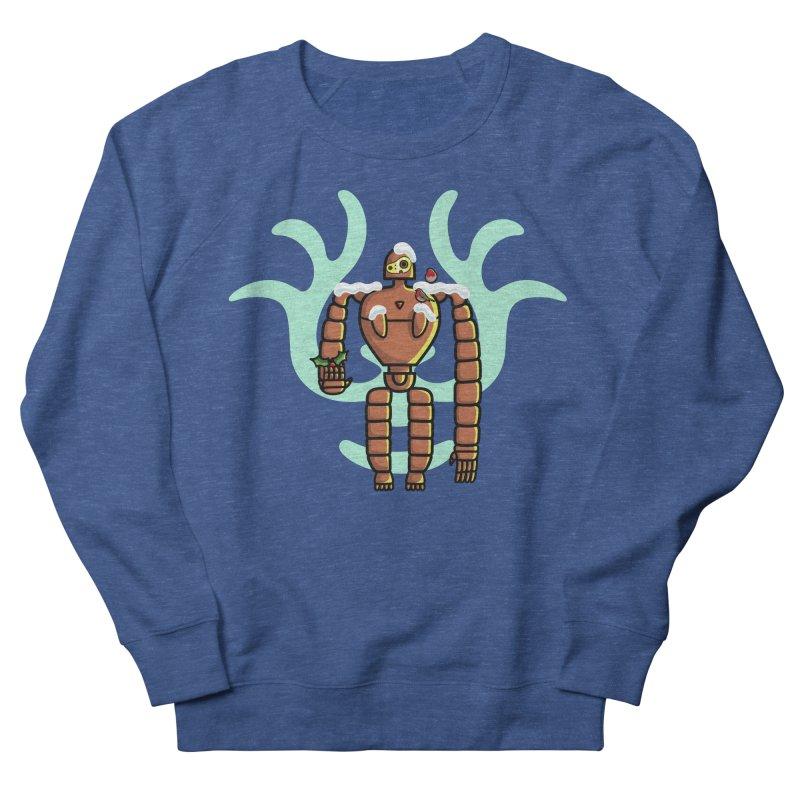 Christmas Laputa Robot Women's French Terry Sweatshirt by Flaming Imp's Artist Shop