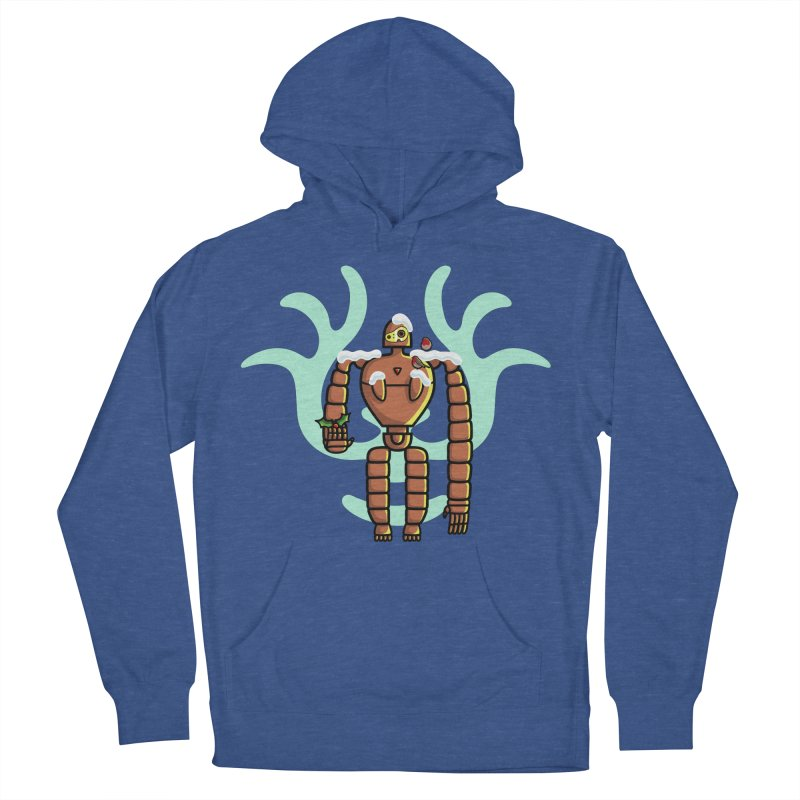 Christmas Laputa Robot Women's French Terry Pullover Hoody by Flaming Imp's Artist Shop