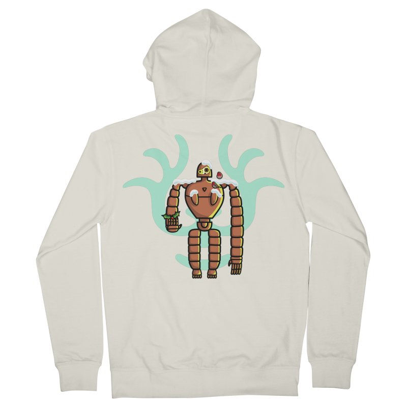 Christmas Laputa Robot Men's French Terry Zip-Up Hoody by Flaming Imp's Artist Shop