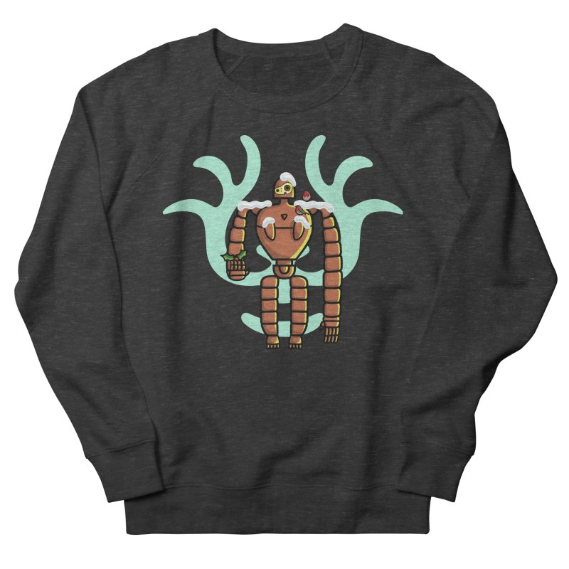 Christmas Laputa Robot Men's French Terry Sweatshirt by Flaming Imp's Artist Shop