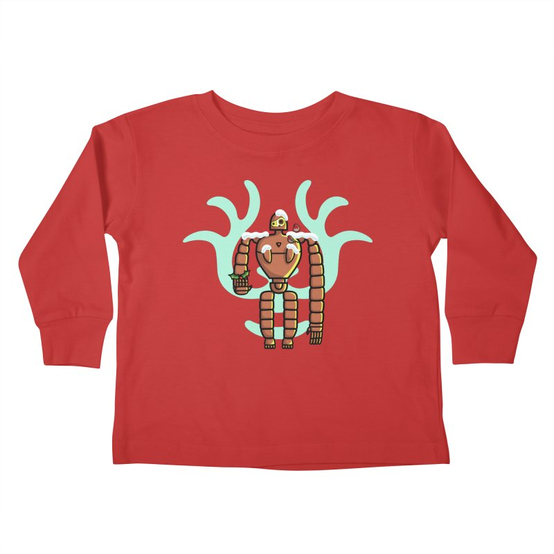 Christmas Laputa Robot Kids Toddler Longsleeve T-Shirt by Flaming Imp's Artist Shop