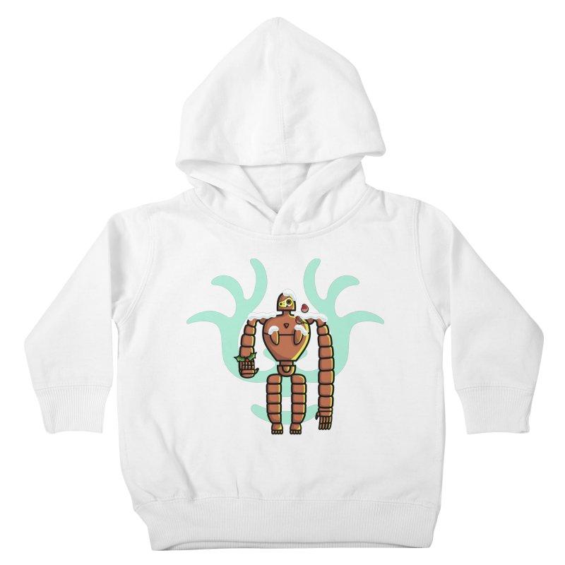 Christmas Laputa Robot Kids Toddler Pullover Hoody by Flaming Imp's Artist Shop