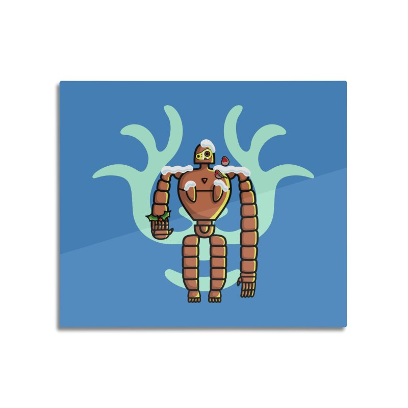 Christmas Laputa Robot Home Mounted Aluminum Print by Flaming Imp's Artist Shop