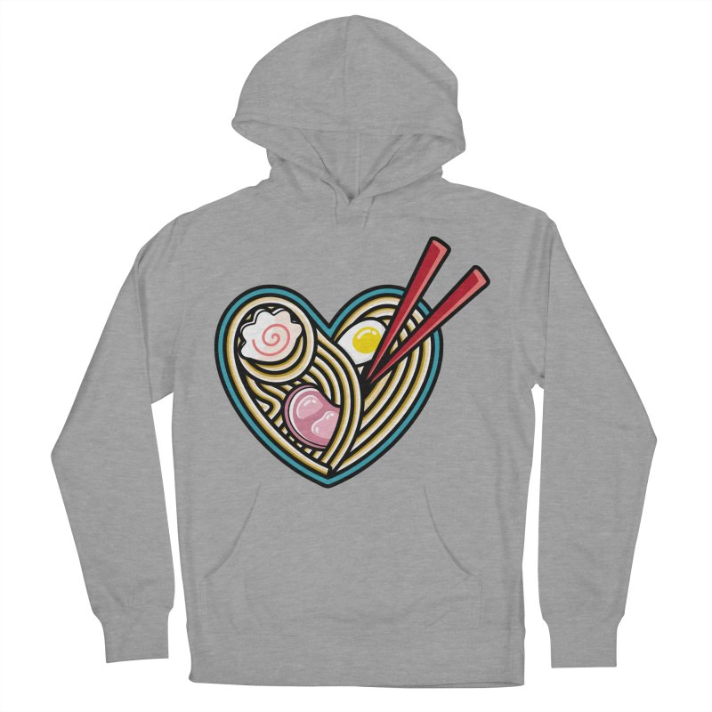 Love Ramen Women's French Terry Pullover Hoody by Flaming Imp's Artist Shop