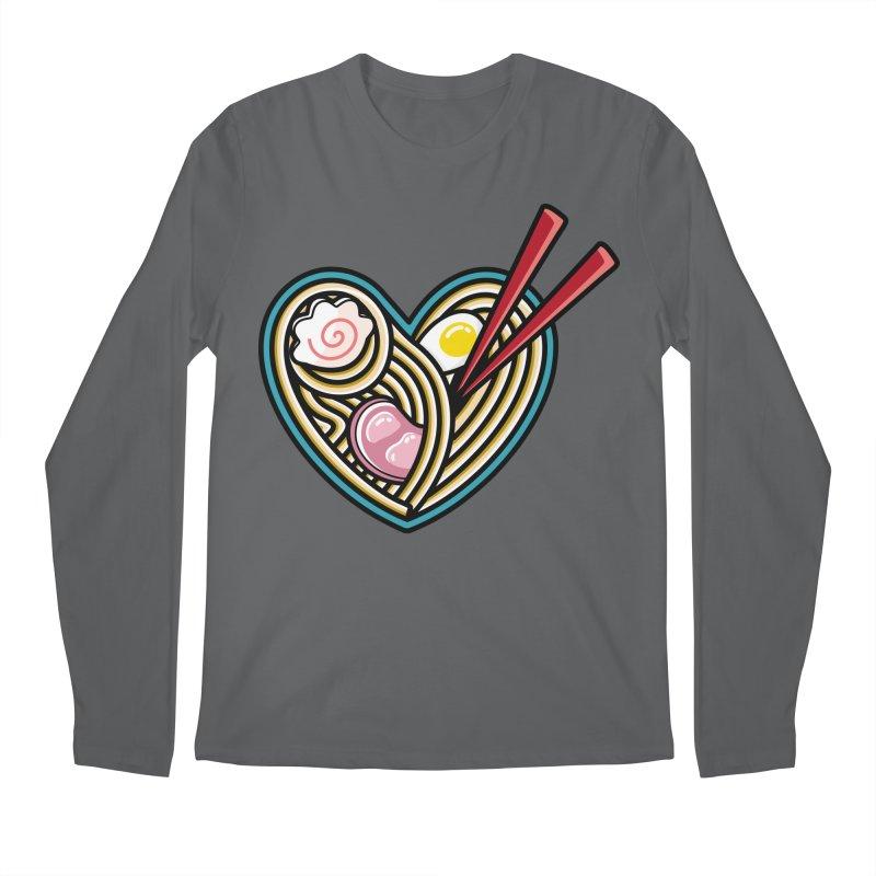 Love Ramen Men's Regular Longsleeve T-Shirt by Flaming Imp's Artist Shop