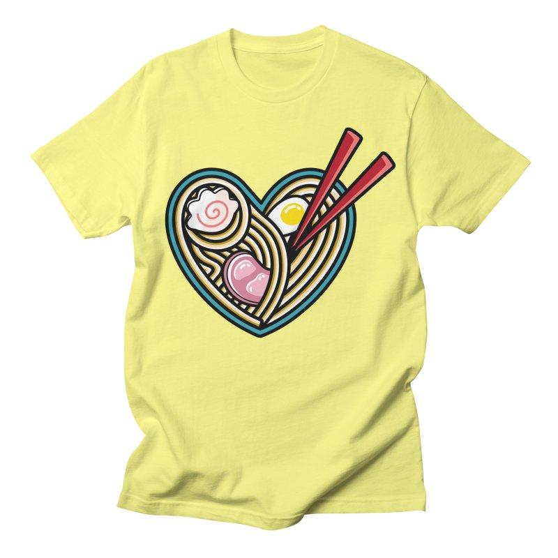 Love Ramen Women's Regular Unisex T-Shirt by Flaming Imp's Artist Shop