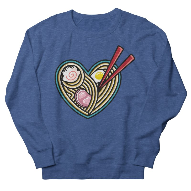 Love Ramen Men's French Terry Sweatshirt by Flaming Imp's Artist Shop