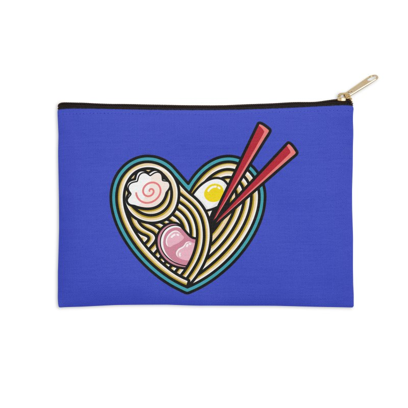 Love Ramen Accessories Zip Pouch by Flaming Imp's Artist Shop